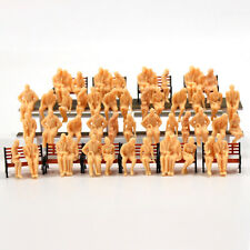 P4805B 64 All Seated  Figures O scale 1:48 Unpainted People Model Railway NEW