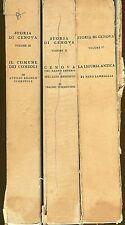 Nino Lamboglia et al. STORIA DI GENOVA 3 VOLL.