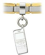 Slider Charm Stainless Steel Cell Phone Fits 4mm Bracelet Anklet Free Shipping