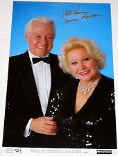 AUTOGRAPHED: Bill & Irene Larsen Poster