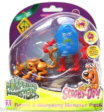 SCOOBY DOO MORPHING MONSTERS 2 PACK - SCOOBY & BLUE MONSTER - NEW & SEALED!!