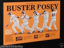 Buster Posey NL Rookie of the year poster Card SF Giants San Francisco Chronicle