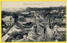 cpa 27 - BRETEUIL sur ITON (Eure) Vue générale du VILLAGE Clocheton Charette