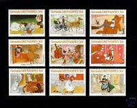 GRENADA - 1987 - DISNEY - ARISTOCATS - ANIMAL STORIES - MINT  - MNH - SET OF 9!