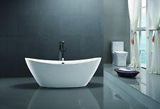 "71"" Vanity Art Bathroom Free Standing Acrylic Soaking Bathtub White Va6807"
