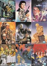 STAR WARS GALAXY 3 1995 TOPPS COMPLETE BASE CARD SET OF 90 & LUCAS ART SET OF 12