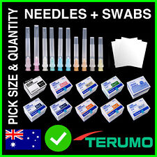 Terumo Needles + Alcohol Swabs / Wipes Hypodermic Syringe Tips Sharps or Blunt
