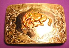 NICE OLD Sand & Sage Denver Colo Bucking Horse Belt Buckle FREE SHIPPING in USA