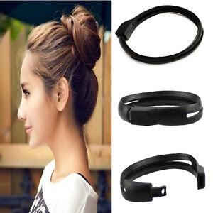 DIY French Women Styling Hair Tool Donut Bun Clip Twist Maker Hair Sticks Holder