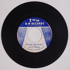 "JIM ""C"" STEVENS: You Can't Win Em All B-W RECORDS '61 Country Obscure 45 Hear"