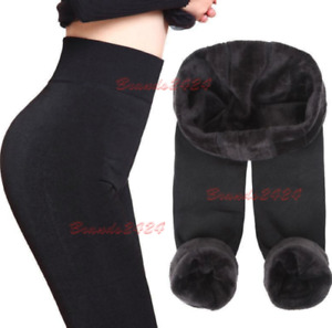 NEW  LADIES THICK WINTER THERMAL FLEECE LEGGINGS WARM SIZE 6-24