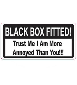 Black Box Fitted Sticker Speed Monitored Car Van Bike Young Driver Bumper Decal