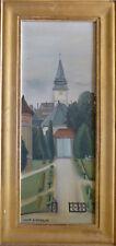 """Claude SCHURR (1921), HsP 1948 """"L'église"""" / Nle École de Paris Jeune peinture"""