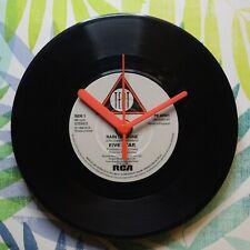 """Five Star """"Rain & Shine"""" Retro Chic 7"""" Vinyl Record Wall Clock"""