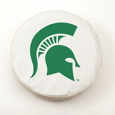 Michigan State Spartans Green/White NCAA Vinyl Spare Tire Cover by HBS Size I