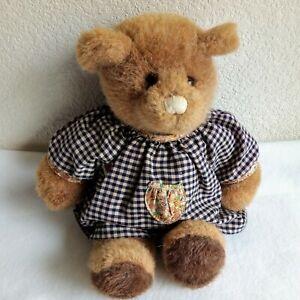 Bear Girl Bear Tales by GUND Stuffed Plush Animal Plaid Outfit Vintage 1985