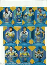 2016 NRL TRADERS PARALLEL GOLD COAST TITANS TEAM SET 10 CARDS