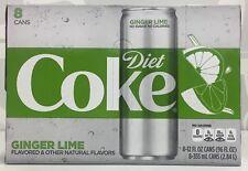 Coca Cola Diet Coke Ginger Lime Soda 8 pack
