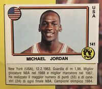 Michael Jordan, Mike Tyson Complete 1988 Panini Supersport Italian Sticker Album