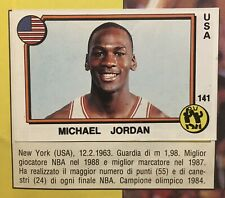 Michael Jordan, Mike Tyson Complete 1988 Panini Supersport Italian Sticker Album