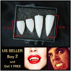 4Pcs of Vampire Teeth Halloween Cosplay Makeup Horrific Fangs