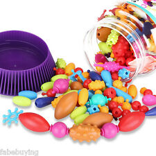 New 320 Pieces DIY Pop Beads Toy Snap together Jewelry Kid/Children Fashion Kit