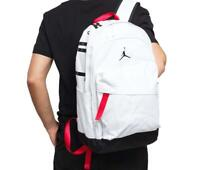 Air Jordan Air Patrol Backpack School/Travel Bag White/Black/Red NEW W/TAGS