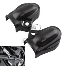 Black Bar & Shield Rear Axle Covers swingarm For Harley VRSC V-Rod VRSCA 02-up