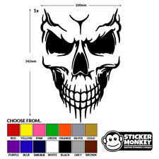 Smiling Skull - Vinyl Decal Sticker - Car/Van/Boat/Bike/Wall/Window - Any Colour
