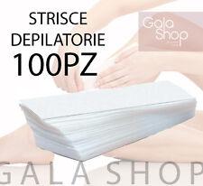 STRISCE DEPILAZIONE 100PZ DEPILATORIE EPILAZIONE ESTETICA PROFESSIONALE