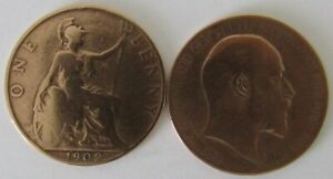 1902-1910 | Edward VII One Penny | Choose Year | Free Post + Discounts