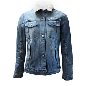 Bull-It Femmes Tracker 17 SR6 Jeans Veste Moto Bleu Clair