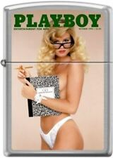 Zippo Playboy October 1990 Cover Street Chrome Windproof Lighter NEW RARE