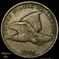 "1858 Flying Eagle Cent 1c ""Small Letters"" 032020-04B Free shipping!"