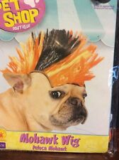 Mohawk/Punk Rock Wig Halloween Costume For Dogs S/M Orange And Black