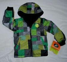 NWT - Boys Athletech Performance Outerwear Green/Black Reversible jacket XS 4/5