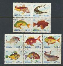 Oman Fish Stamp Set 10 Different