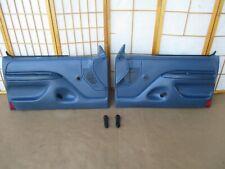 92-96 Bronco or F Series Pickup Truck LEFT & RIGHT BLUE Crank Door Panel Set