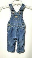 OshKosh B'Gosh Vestbak Overalls Made in USA Toddler Size 24 Months Denim Blue