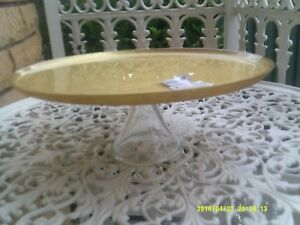 "NEW ""MAXWELL & WILLIAMS"" STELLA GOLD GLITTER FOOTED CAKE PLATE"