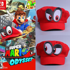 Super Mario Odyssey Cap Cosplay Mario Red Cap Adult Kids Handmade Mario Hat New