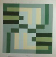 """Werner Klein """"Etude"""" Sehr schöne, konstruktive Arbeit, 1976, Tempera"""