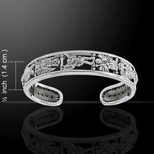 Archangels .925 Sterling Silver Cuff Bracelet by Peter Stone Jewelry