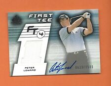 2003 SP GAME USED RC PETER LONARD PLAYER-WORN SHIRT ON CARD AUTO #d 0633/1500