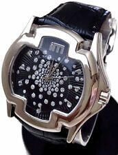 Ladies Fashion Watch Ice Master BM1311 Black Leather Band Black Iced Dial