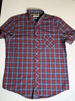 Ben Sherman Check Men's Short Sleeve Shirt - Size XL