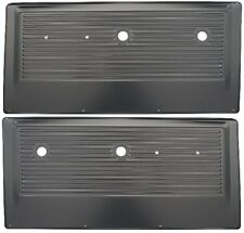 67-72 Chevy/GMC Pickup Truck Black Inner Interior Stamped Steel Door Panel PAIR