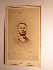 Mann mit Bart & Brille - Portrait ca. 1860/70er Jahre CDV P. Schiffer Krefeld