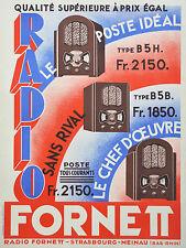 Affiche ancienne originale   - RADIO FORNETT
