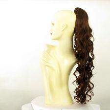 Hairpiece ponytail wavy long dark brown copper 65 cm 10 31 peruk